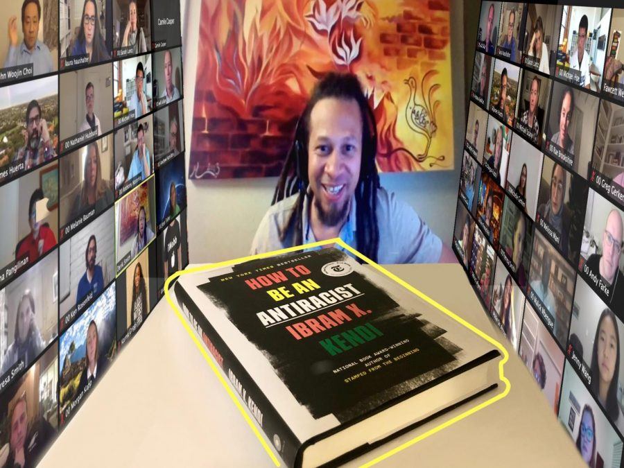Students joined Dr. Derik Smith on Zoom to discuss the book,