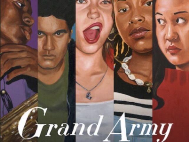 Netflix showcases their five main characters on Grand Army's cover art.