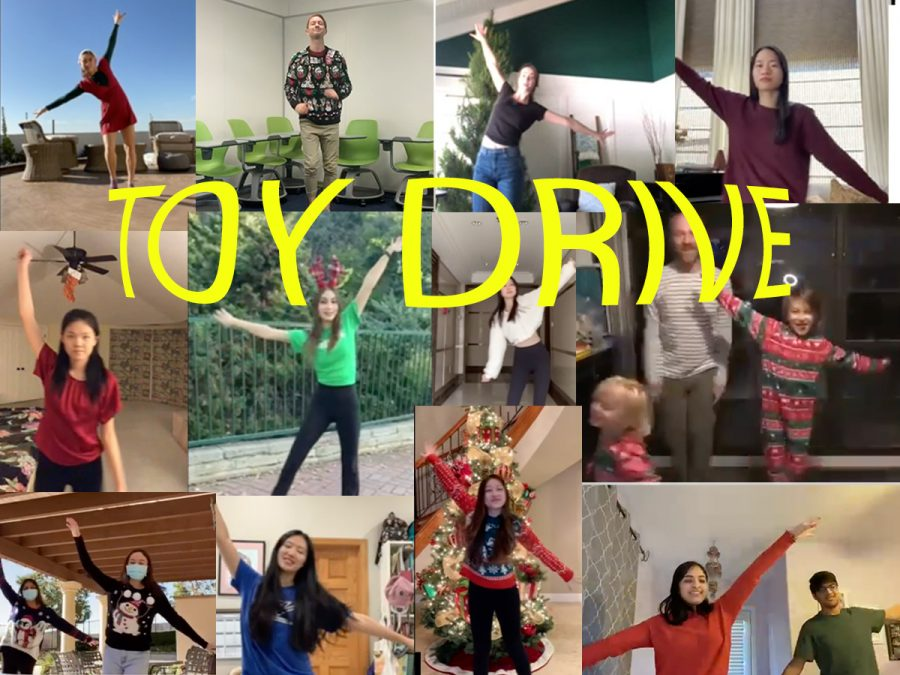 Prefects+dance+to+Jingle+Bell+Rock+in+holiday+outfits+to+honor+toy+drive+tradition.