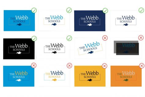 An inside look at Webb's official brand guidelines. From an internal document, this image shows guidelines on how users can modify the logo for distribution. Graphic Courtesy: Scott Nichols.