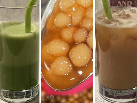 Delicious boba drinks prepared by Eva Annabi ('23) and Noelani Chock ('23).