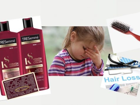 Photo of TRESemmé hair care products credit to: Gimme   Graphic courtesy of Taylor Crawford