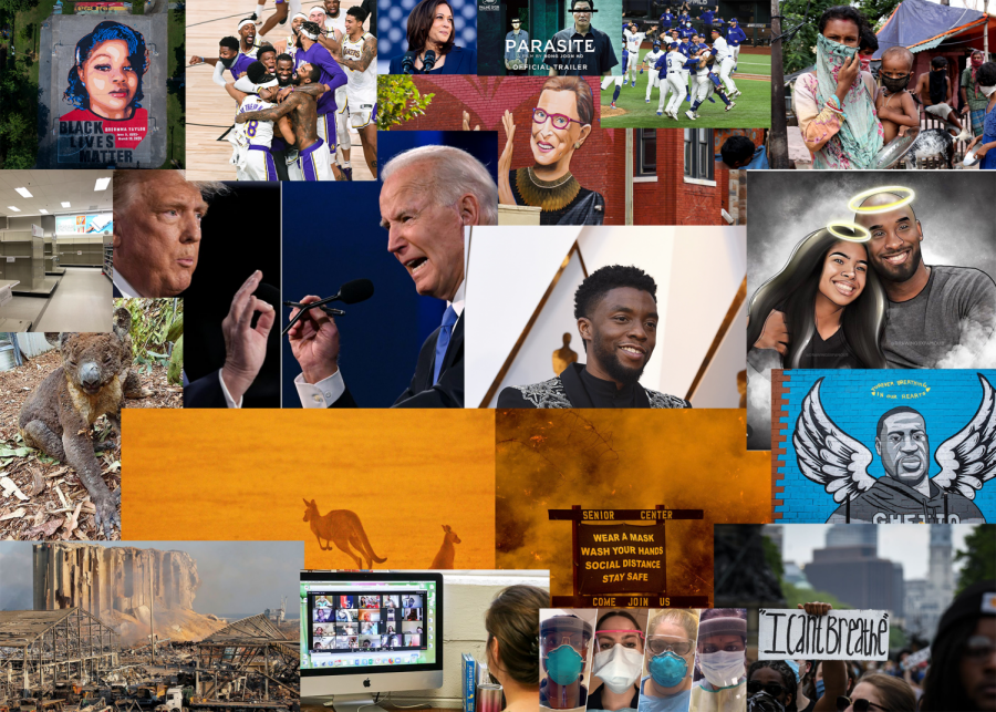 A+collage+of+significant+events+in+2020.+