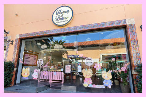 The Honey & Butter Macarons dessert shop located at the Irvine Spectrum Mall.