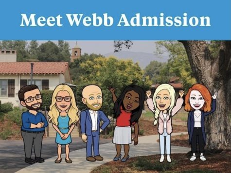 The Webb Admission Team uses Bitmojis to welcome prospective students.