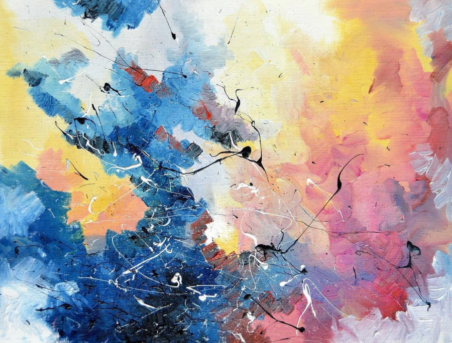 Artist Melissa McCracken has chromesthesia, a form of synesthesia allowing her to listen to music and paint a canvas of colors and patterns she sees in the songs.