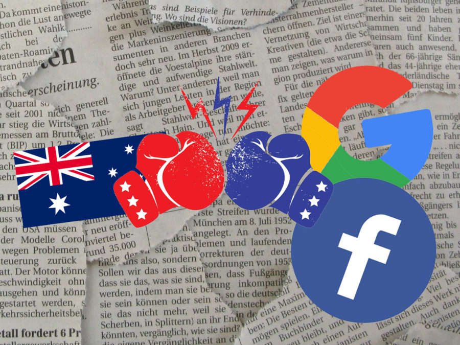 Australian government leads an unprecedented battle against two tech giants, Google and Facebook, with its new media law.