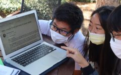 Simon Kang ('22), Josie Chow ('22), and William Li ('22) react to Dr. Smiths email with surprise. Credit: Oma Sukul (23)